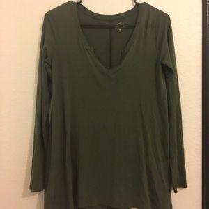 Hollister Green Long Sleeve Top